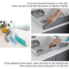 Splash Guard Kitchen Sink by Amazon Com Mia Home Silicon Kitchen Sink Water Splash Guard Grey