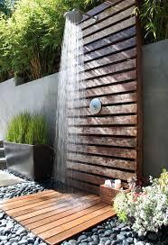 Outdoor Garden Shower In Wonderland Park Residence By Fiore Landscape Design