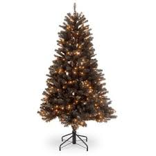 North ValleyR 45 Black Spruce Artificial Christmas Tree With 200 Clear Lights Stand