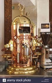 Brass Espresso Machine Stock Photos