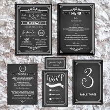 Printable DIY Chalkboard Wedding Invitation Set