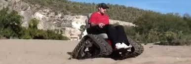 fauteuil tout terrain electrique tankchair l incroyable fauteuil roulant tout terrain vidéo