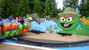 Oscar s Whirly Worms Kid Kid Amusement Ride Sesame St Busch
