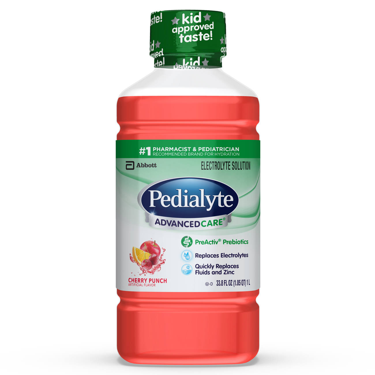 Abbott Pedialyte Advanced Care Cherry Punch Electrolyte Solution - 1L