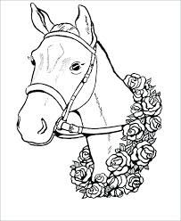 Horse Head Coloring Page Dog Pages Quarter Printable