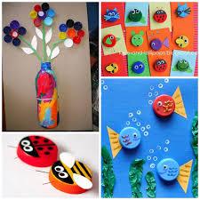 Plastic Bottle Cap Ampamp Lid Crafts For Kids