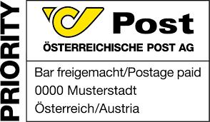 Barfreimachung Brief Post AG