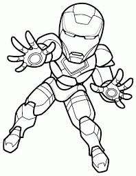Coloring Pages Superhero Iron Man Printable For Toddler 22701