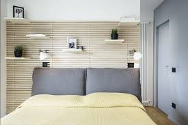 schlafzimmer wandgestaltung wanddekoration holz latten