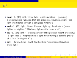 Light Verb by Words Classifiable In Four Different Ways As A Noun Verb Adjective U2026