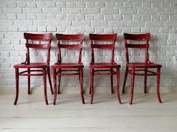 mid century shabby chic esszimmerstühle thonet 4er set