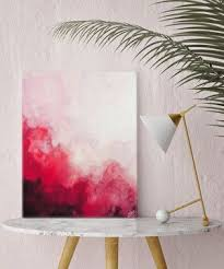Watercolor Print Canvas Art Red Abstract Wall Painting Home Decor