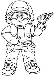 Cabbage Patch Kids Coloring Pages 001 Were Originally Crafted By Xavier Roberts In As These Dolls S