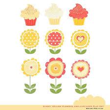 Sunny Cupcakes Clipart 1