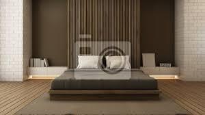fototapete schlafzimmer design modern loft 3d render