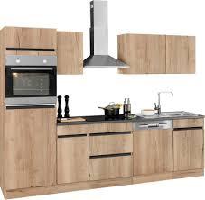 optifit küchenzeile roth mit e geräten breite 270 cm kaufen otto