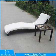 Outdoor Wicker Rattan Stackable Sun Lounger Pool Deck Chairs