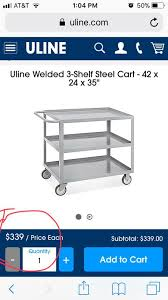 Uline Metal Cart For Sale In Upland CA