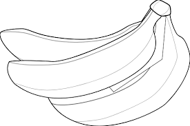 Bananas Black White Line art