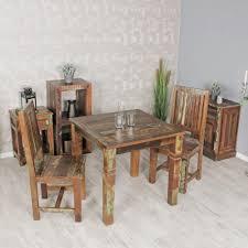 finebuy esszimmertisch 80 x 80 x 76 cm mango shabby chic massiv holz design landhaus esstisch bootsholz tisch für esszimmer rechteckig
