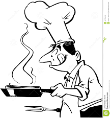 Chef cooking food Cartoon Vector Clipart