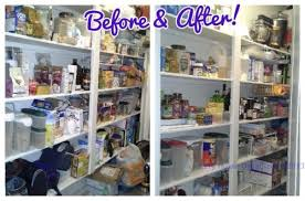 Deep Narrow Pantry Was Organized With Purging Sorting And Setting Up Zones