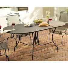 Ebay Patio Table Cover by Home Design Charming Oval Wrought Iron Patio Table Outdoor