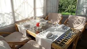 Dining Table Near Window Empty Plates And Glasses Cheap Restaurant Design Ideas Stock Video Footage