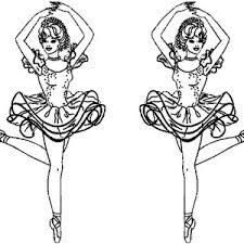 Twin Ballerina Coloring Page