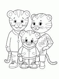 Tiger Family Coloring Page
