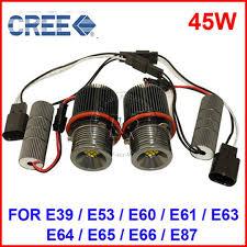 45w cree led marker eye kit canbus error free halo headlight