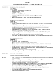 Download Refrigeration Resume Sample As Image File
