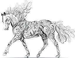 Free Printable Horse Coloring Pages Packed With Alluring Realistic Colouring To Amusing
