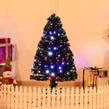 4 Artificial Holiday Fiber Optic LED Light Up Christmas Tree W 8