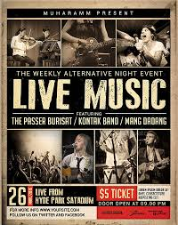 Live Musical Event Poster