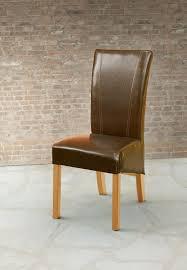 2er set esszimmerstühle kunstleder braun glänzend stuhlset polsterstühle modern