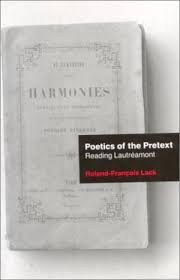 Poetics Of The Pretext Reading Lautreamont