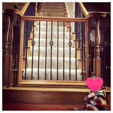 Baby Gates For Banisters Baby Gate That Matches Your Staircase ... Wood Stair Railing Kits Outdoor Ideas Modern Stairs And Kitchen Design Karina Modular Staircase Kit Metal Steel Spiral Interior John Robinson House Decor Shop At Lowescom Indoor Railings Wooden Designs Contempo Images Of Lowes For Your Arke Parts The Home Depot Fresh 19282 Bearing Net Grill 20 Best Oak Handrails Caps Posts Spindles Stair Railings Interior Interior Rail Ideas Pinterest
