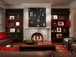 best red and black application ideas for living room interior
