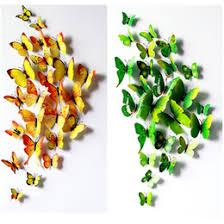 13 Colors 12pcs Set PVC 3D Cute Butterfly Wall Sticker Art Mural Door Decals Home Decor Butterflies