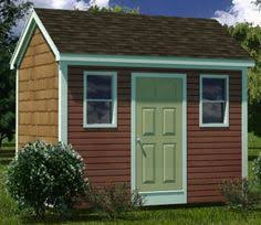 8x12 Storage Shed Blueprints by Details About 8 X 12 Storage Utility Garden Shed Plans Building