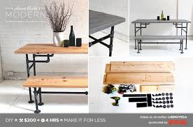 Diy Simple Wooden Desk by Homemade Modern Ep3 Wood Iron Table