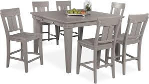 New Haven Counter-Height Dining Table And 6 Slat-Back Stools Kitchen Design Table Set High Top Ding Room Five Piece Bar Height Ideas Mix Match 9 Counter 26 Sets Big And Small With Bench Seating 2018 Progressive Fniture Willow Rectangular Tucker Valebeck Brown Top Beautiful Cool Merlot Marble Palate White 58 A America Bri British Have To Have It Jofran Bakers Cherry Dion 5pc