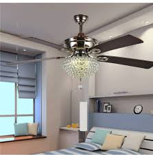 52inch K9 Crystal Simple Fashion Dining Room Living Modern Antique Wooden Blades Ceiling Fan Lamp Light Remote Control In Fans From Lights