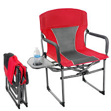 Details About M-Mark Director's Chair Camping Portable Folding Padded Steel  Frame (Red)