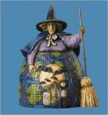 Jim Shore Halloween Ebay by Enesco Jim Shore Heartwood Creek Halloween Witch With Cat And