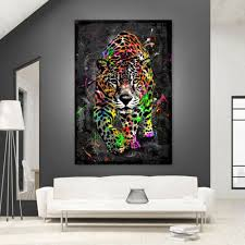 acrylglas wandbild leopard abstrakt kunstdruck bilder natur
