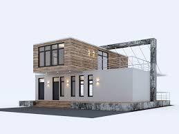 100 Container Hous Sea House 3D Model