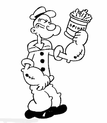 POPEYE COLORING PAGES PRINT