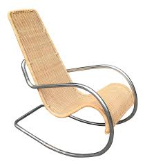 Mid-Century Rattan & Chrome Italian Rocking Chair | Chairish Italian 1940s Wicker Lounge Chair Att To Casa E Giardino Kay High Rocking By Gloster Fniture Stylepark Natural Rattan Rocking Chair Vintage Style Amazoncouk Kitchen Best Way For Your Relaxing Using Wicker Sf180515i1roh Noordwolde Bent Rattan Design Sold Mid Century Modern Franco Albini Klara With Cane Back Hivemoderncom Yamakawa Bamboo 1960s 86256 In Bamboo And Design Market Laze Outdoor Roda
